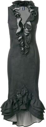 Jean Paul Gaultier Pre Owned Embellished Ruffle Dress