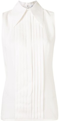 Andrew Gn Pleated Silk Blouse