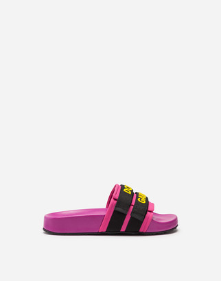 Dolce & Gabbana Rubber And Neoprene Sliders