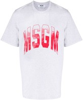 MSGM ombre-logo boxy T-shirt