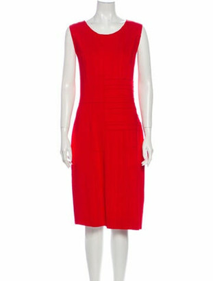 Oscar de la Renta 2012 Midi Length Dress Red