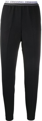 Ermanno Ermanno Logo Waistband Cropped Trousers