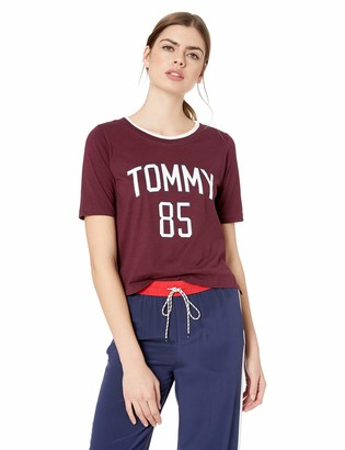 Tommy Hilfiger Tommy Women's Short Sleeve Cotton Tee Shirt with Logo Lounge Pj