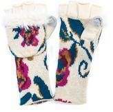 Muk Luks Women's Long Floral Flip Mittens