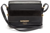 Burberry Grace Small Leather And Suede Shoulder Bag - Womens - Black