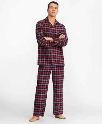 Brooks Brothers Red Plaid Flannel Pajamas