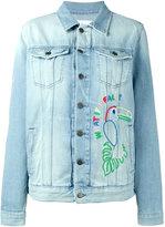 Mira Mikati Hama bead embellished denim jacket