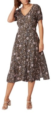 Cotton On Woven Chloe Puff Sleeve Midi Dress