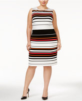 Calvin Klein Plus Size Striped Sheath Dress