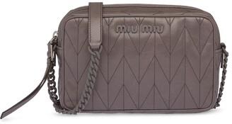 Miu Miu Quilted-Effect Crossbody Bag