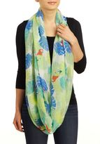 David & Young Women's Tropical Print Scarf