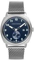 Larsson & Jennings Meridian Silver & Navy Milanese Watch