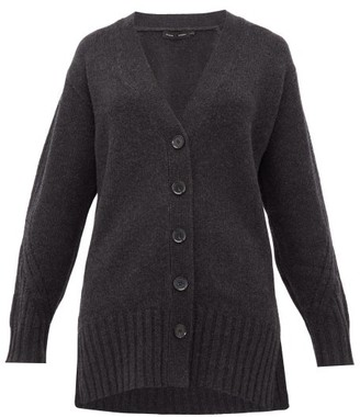 Proenza Schouler Rib-knitted Cashmere Cardigan - Womens - Charcoal