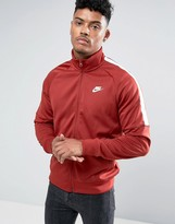 Nike Tribute Track Jacket In Red 678626-675