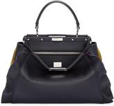 Fendi Blue & Yellow Medium Peekaboo Bag
