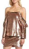 Elliatt Women's Revolution Off The Shoulder Sequin Top