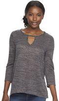 Juicy Couture Women's Embellished Keyhole Top