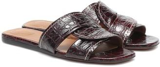 Chloé Candice croc-effect leather slides