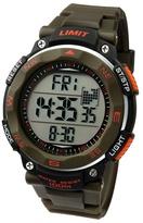 Limit Green & Orange Pro Xr Silicone Strap Watch 5488.02
