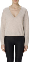 J Brand Josey Cropped Cashmere Sweater In Grainy