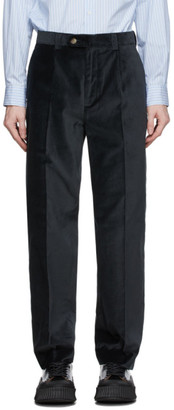 mfpen Black Velvet Trousers