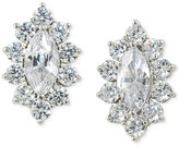 Carolee Silver-Tone Marquise Crystal Stud Earrings