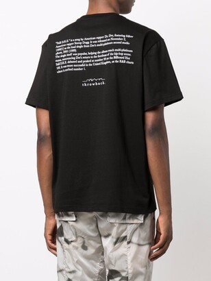 Throwback. slogan-print cotton T-shirt