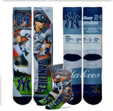 For Bare Feet Gary Sanchez New York Yankees Trading Card Player Crew Socks