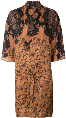 Mes Demoiselles Mojave floral-print silk dress