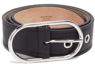 Acne Studios Logo-engraved Buckle Leather Belt - Black