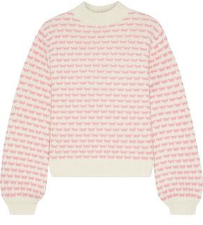 Iris & Ink Holly Wool-blend Jacquard Sweater