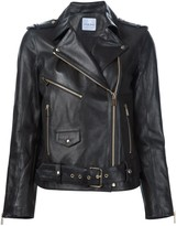 Anine Bing vintage leather jacket with gold hardware*