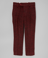 Isaac Mizrahi Burgundy Wool-Blend Pants - Boys