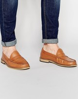 Frank Wright Penny Loafers In Tan