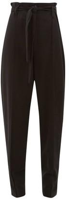 Isabel Marant Emilia Paperbag-waist Crepe Trousers - Black