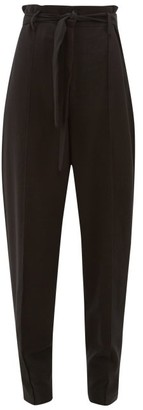 Isabel Marant Emilia Paperbag-waist Crepe Trousers - Womens - Black