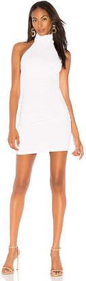 Susana Monaco Gathered High Neck Halter Dress 16