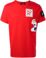No.21 embroidered patch T-shirt - men - Cotton - XS