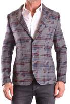 Daniele Alessandrini Men's Grey Cotton Blazer.