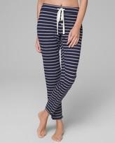 Thermal Cozy Pajama Pants Navy & Ivory