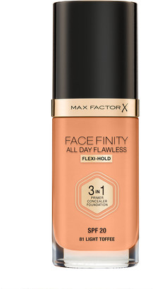 Max Factor Face Finity All Day Flawless 3 In 1 Foundation 30Ml 81 Light Toffee (Neutral)