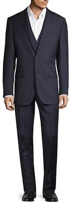 Calvin Klein Slim-Fit 3-Piece Striped Wool-Blend Suit