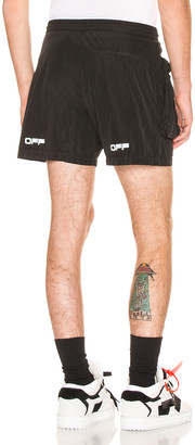 Off-White All Weather Shorts in Black & White | FWRD