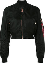 Alpha Industries cropped bomber jacket - women - Nylon - L