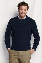 Classic Men's Meridian Shaker Crewneck Sweater-Dark Camel Heather