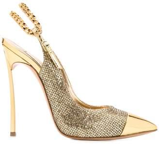 Casadei metallic slingback stiletto pumps