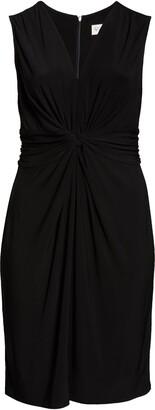 Eliza J Twist Detail Sleeveless Cocktail Midi Dress