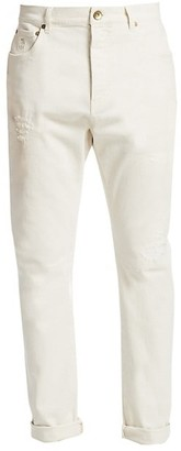 Brunello Cucinelli Skinny Fit Distressed Jeans