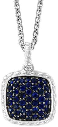 Effy Fine Jewelry Silver 1.50 Ct. Tw. Sapphire Pendant Necklace
