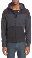 Belstaff Men's 'Swanstead' Mixed Media Full Zip Hoodie